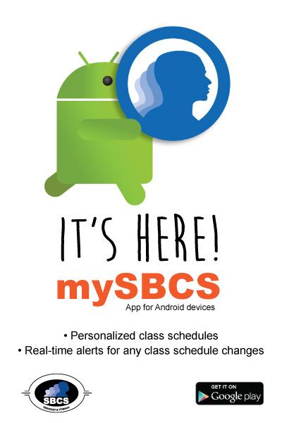 mySBCS mobile app flyer